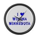 I Love Winona Winter Large Wall Clock