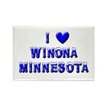 I Love Winona Winter Rectangle Magnet (10 pack)