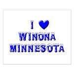 I Love Winona Winter Small Poster