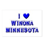 I Love Winona Winter Postcards (Package of 8)