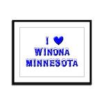 I Love Winona Winter Framed Panel Print