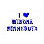 I Love Winona Winter Mini Poster Print