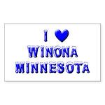 I Love Winona Winter Rectangle Sticker