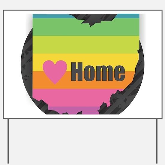 Home Ohio Yard Sign