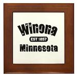 Winona Established 1857 Framed Tile