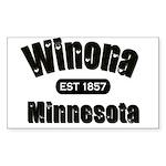 Winona Established 1857 Rectangle Sticker 50 pk)