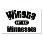 Winona Established 1857 Rectangle Sticker