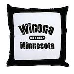 Winona Established 1857 Throw Pillow