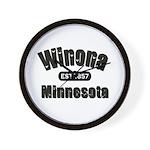 Winona Established 1857 Wall Clock