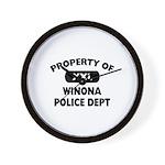 Property of Winona Police Dept Wall Clock