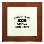 Property of Winona Police Dept Framed Tile