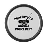 Property of Winona Police Dept Large Wall Clock