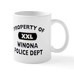 Property of Winona Police Dept Mug