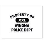 Property of Winona Police Dept Small Poster