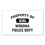 Property of Winona Police Dept Rectangle Sticker