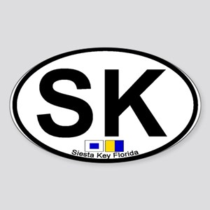 Siesta Key FL - Oval Design Oval Sticker