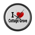 I Love Cottage Grove Large Wall Clock
