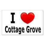 I Love Cottage Grove Rectangle Sticker