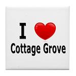 I Love Cottage Grove Tile Coaster