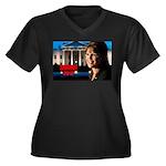 Sarah Palin 2012 Women's Plus Size V-Neck Dark T-S