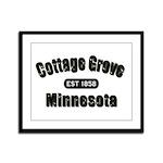 Cottage Grove Established 1858 Framed Panel Print