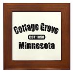 Cottage Grove Established 1858 Framed Tile