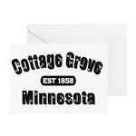 Cottage Grove Established 1858 Greeting Card