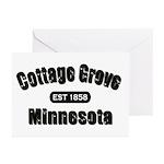 Cottage Grove Established 1858 Greeting Cards (Pk
