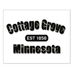 Cottage Grove Established 1858 Small Poster