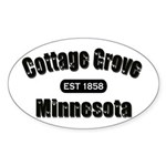 Cottage Grove Established 1858 Sticker (Oval 10 pk