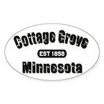 Cottage Grove Established 1858 Sticker (Oval 50 pk