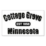 Cottage Grove Established 1858 Rectangle Sticker