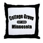 Cottage Grove Established 1858 Throw Pillow