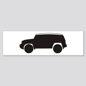 FJ Cruiser Outline Bumper Sticker