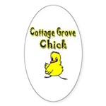 Cottage Grove Chick Oval Sticker (50 pk)