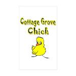 Cottage Grove Chick Rectangle Sticker 50 pk)