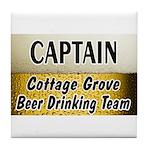 Cottage Grove Beer Drinking Team Tile Coaster