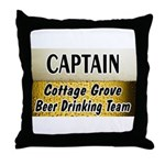 Cottage Grove Beer Drinking Team Throw Pillow