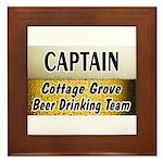 Cottage Grove Beer Drinking Team Framed Tile