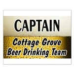 Cottage Grove Beer Drinking Team Small Poster