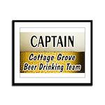 Cottage Grove Beer Drinking Team Framed Panel Prin