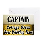 Cottage Grove Beer Drinking Team Greeting Cards (P