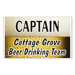 Cottage Grove Beer Drinking Team Sticker (Rectangl