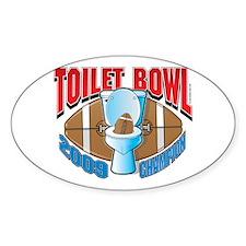 2009 Fantasy Football Toilet Oval Sticker