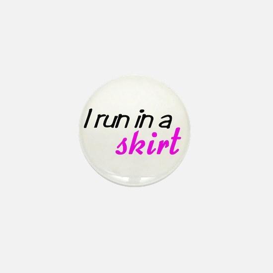 Cute Run like a girl Mini Button