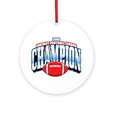 2009 Fantasy Football Champio Ornament (Round)