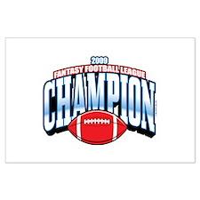 2009 Fantasy Football Champio Large Poster