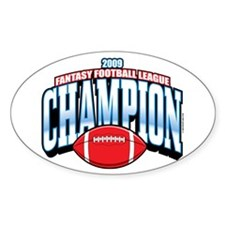 2009 Fantasy Football Champio Oval Sticker