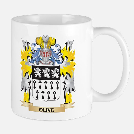 Olive Family Crest - Coat of Arms Mugs