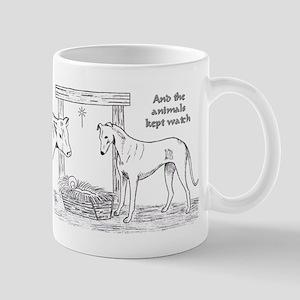 Greyhound Nativity Mug